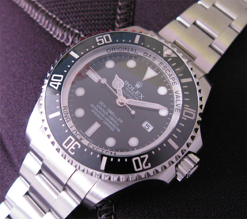 Rolex DeepSea, vandtæt ned til 3990 meter.